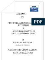 36970578 Fund Selection Behavior and Scope of Mutual Funds in India