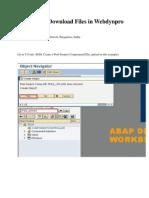 Webdynpro Abap for File Upload