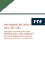 Marketing MIS & Consumer Behaviour