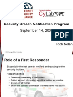 2007 09 14 Rich Nolan ISA CMU CyLab Breach Notification Presentation