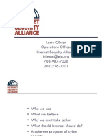 2003 10 00 Larry Clinton ISA Best Practices Presentation at Global Security Conference