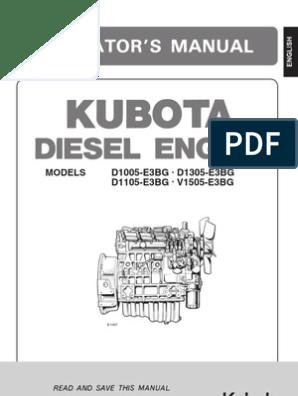 Usuario Kubota 1105   Diesel Fuel   Radiator