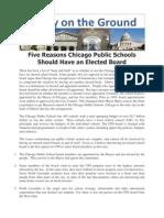 Five Reasons Chicago Public Schools Should Have an Elected School Board