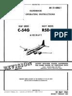 Flight Operating Instructions USAF C-54G & Navy R5D-5 Aircraft (1952)