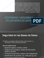 Integridad y Seguridad de Las Bases de Datos