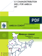 Ambuja value chain by pallav