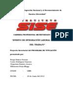 TITULACION EOS - Organización e implementación del Evento de Integración laboral por el Día del Trabajo.
