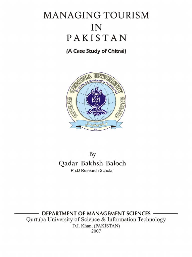 research paper on tourism in pakistan