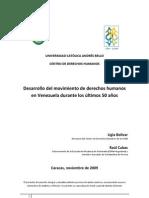 Desarrollo del movimiento de Derechos Humanos en Venezuela durante los últimos 50 años