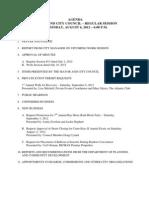 August 6 2012 Complete Agenda