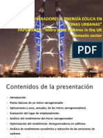 MICRO-AEROGENERADORES & ENERGÍA EÓLICA EN ZONAS URBANAS