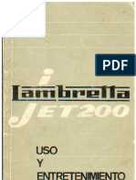 Manual de Usuario Lambretta 200 Jet
