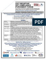 Rocky Mountain Export Compliance Forum Flyer