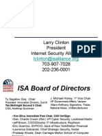 2009 10 21 Larry Clinton Financial Risk Management Presentation for ANSI