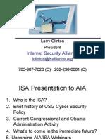 2009 08 13 Larry Clinton AIA Public Policy Webinar