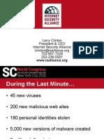 2011 11 16 Larry Clinton SC Magazine Keynote Presentation About APT Economic Misalignment and Regulation