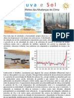 Chuva e Sol - Causas e Efeitos das Mudanças do Clima