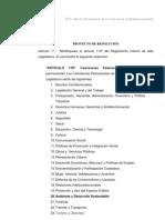 Proyecto de cambio de denominación a la Comisión de Ecología