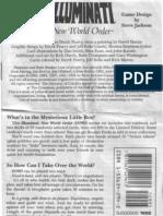 Illuminati CCG Rulebook (Card Deck Game)