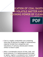 Classification of Coal Based on Volatile Matter And