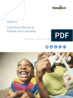 Futurelab - Report 8 - Literature Review in Games and Learning