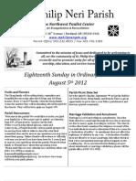 Bulletin for August 4-5 2012