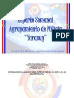 Reporte Semanal 01 Al 23 Julio 2012