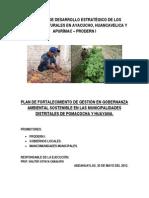 Plan Fortalecimiento Gobernanza Pomacocha y Huayana