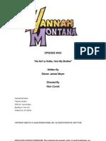 Script Hannah Montana