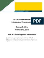 ECON2206 Course Outline