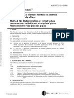 As 3572.12-2002 Plastics - Glass Filament Reinforced Plastics (GRP) - Methods of Test Determination of Initia