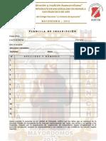 Planilla de Inscripción de Equipo