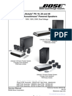 BOSE Lifestyle PS 18, PS 28, PS 48 Service Manual | Electrostatic Discharge  | PhysicsScribd