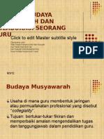 Budaya Musyawarah Dan Kolaborasi