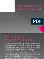 Managing With Balanced Scorecard
