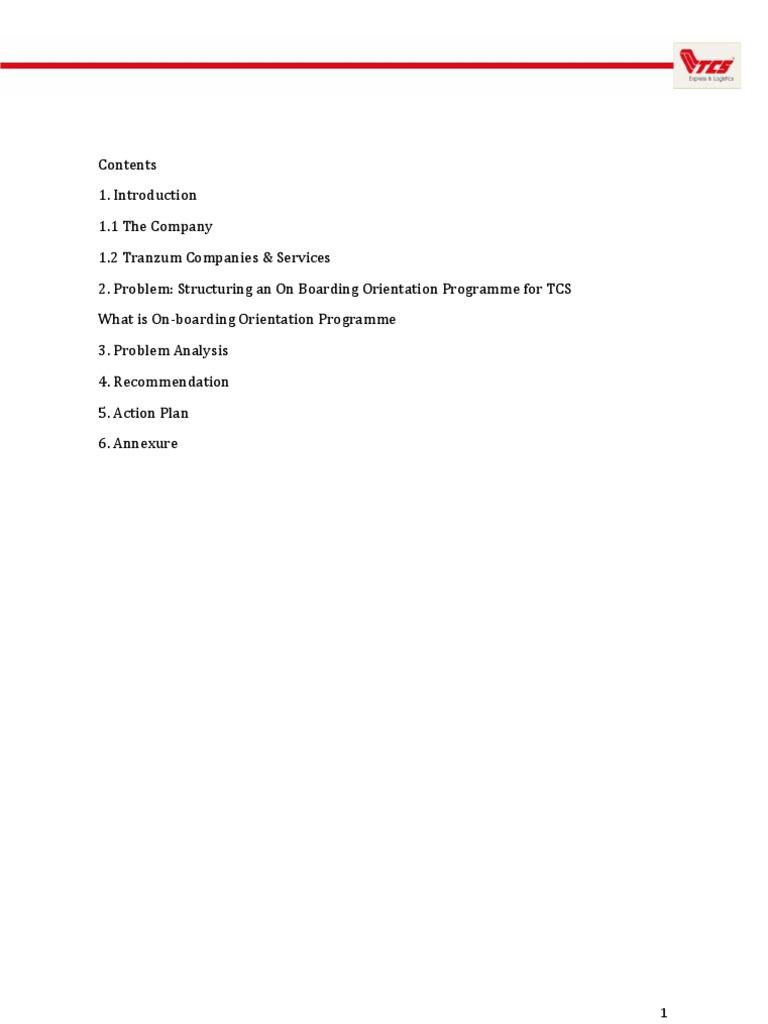 Tcs final report human resource management employee retention kristyandbryce Gallery