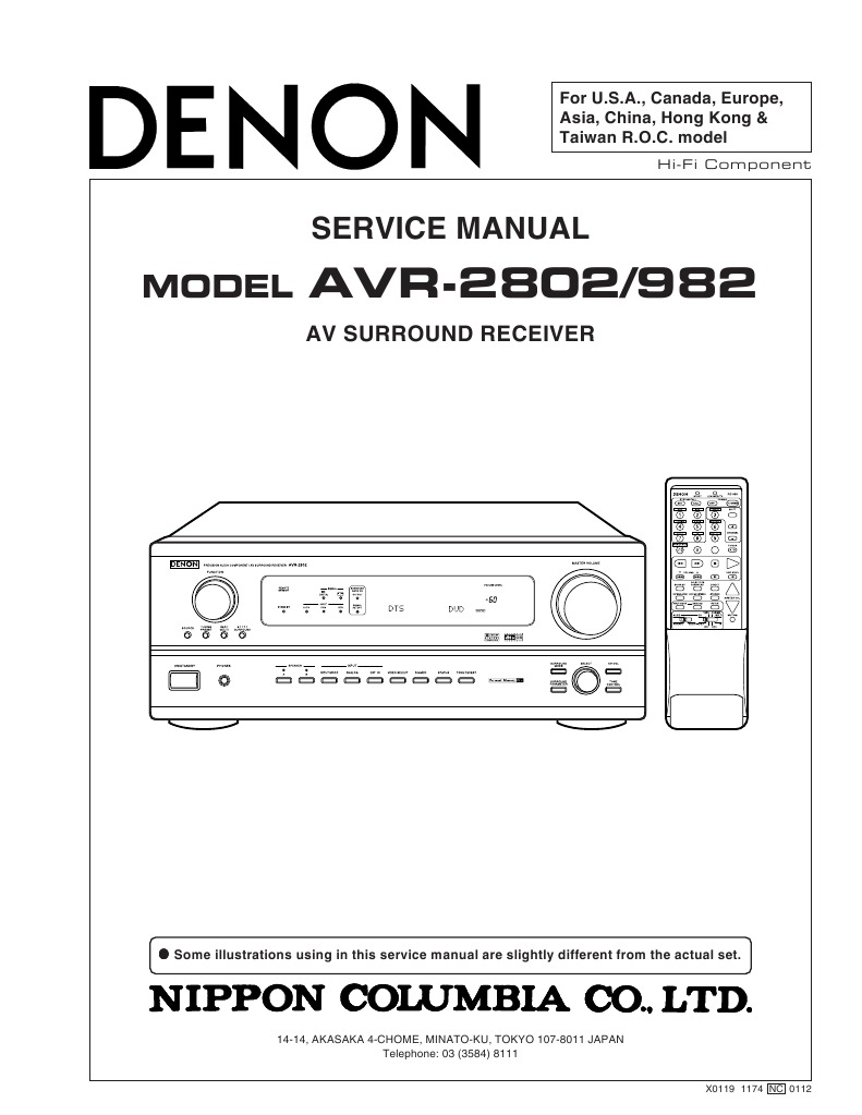 kenwood vr 804 s 806 806 s audio video surround receiver service manual