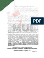 Declaración pública MUI UC en contra del sexismo y la discriminación