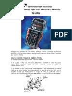 Manual TLS2200 BRADY PRINTER