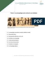 Introducción a la antropología social y cultural