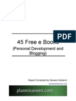 45 Free eBooks on Personal Development and Blogging