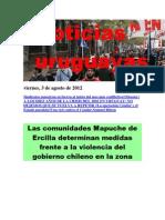 Noticias Uruguayas Viernes 3 de agosto del 2012