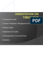 Orientation on Timesheet