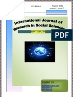 Cover Page IJRSS August 2012