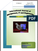 Cover Page IJMIE August 2012