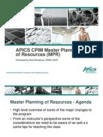 Apics Cpim Mpr Webinar