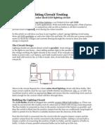 Solar Shed Lighting Circuit Testing