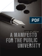 Holmwood (Ed) Manifesto for the Public University