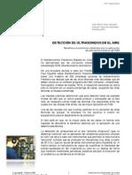 Detección de ultrasonidos en el aire. Beneficios económicos obtenidos por la aplicación de esta técnica básica de PdM.