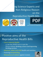 Leading Science Experts and Non-Religious Reason on RH Bill - Feb 2012